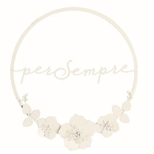 Cercle Métal 20cm Blanc avec Paillettes pour Toujours Équipement Romantique