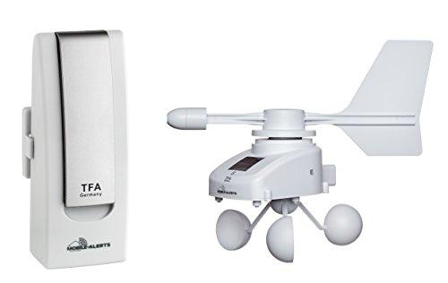 TFA Dostmann Weatherhub Wetterstation Solar-Funk-Windemesser, SmartHome, Klima- und Heimüberwachung, Smartphone-Überwachung