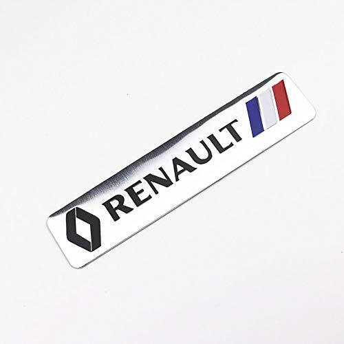 3D Aluminium Emblem Auto Dekoration Aufkleber Logo Abzeichen Aufkleber FüR Renault Megane 2 3 Staubtuch Logan Clio Laguna 2 Captur