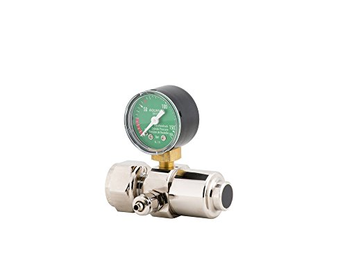 AQUA-NOA CO2 Druckminderer Mehrweg Basic mit 1 Manometer und Feinnadelventil