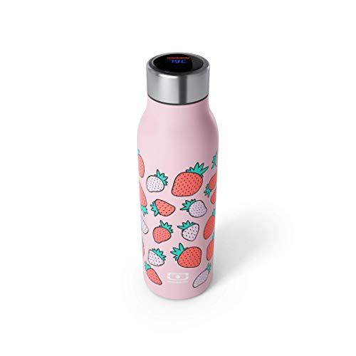 monbento - Edelstahl Trinkflasche BPA frei - Thermosflasche (Intelligente isotherme Flasche, graphic Strawberry)