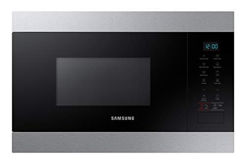 Samsung MG22M80 Einbau-Mikrowelle, 22 Liter, 850 W / 1100 W, innen Keramikbeschichtung Edelstahl
