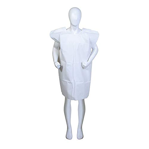 BodyMed Disposable Exam Gowns – Disposable Medical Gowns for Adults – Patient Paper Gowns – Case of 50 – 30  x 42  – White