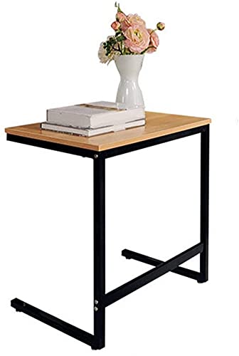 ZGYZ Modern Sofa Side End Table,C Shaped Table Laptop Holder,End Stand Desk Coffee Tray Side Table,Notebook Tablet Beside Bed Sofa Portable Workstation,Black