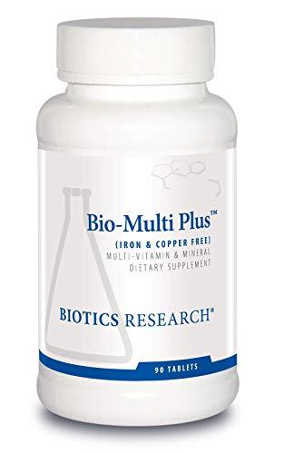 Biotics Research Bio-Multi Plus Iron & Copper Free Multivitamin, Chelated Minerals, Emulsified Fat Soluble Vitamins, Iron Free, Copper Free, High antioxidants, SOD, Catalase 90 Count
