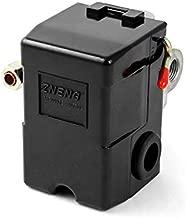 QWORK Air Compressor Pressure Switch with Unloader, 4 port, 95-125 PSI