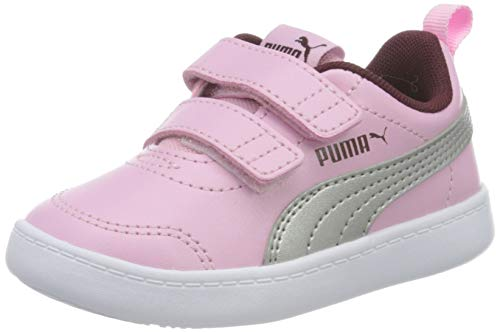Puma Unisex Baby COURTFLEX V2 V INF Sneaker, Pink(Pale Pink-Puma Silver), 19 EU