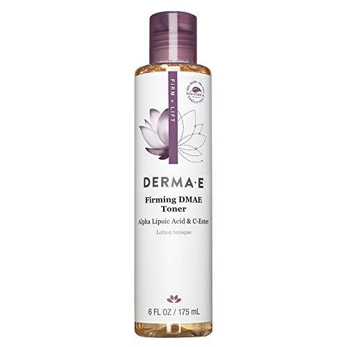 DERMA-E Firming Dmae Facial Toner with Alpha Lipoic Acid, White, 6 Fl Oz