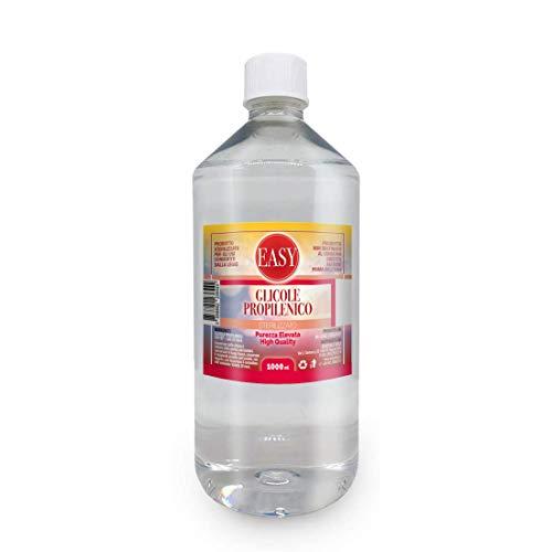 EASY - Glicole Propilenico 1 Litro Puro (99,7%) - PG Inodore ed Insapore - Purezza Certificata di Grado Farmaceutico USP EP