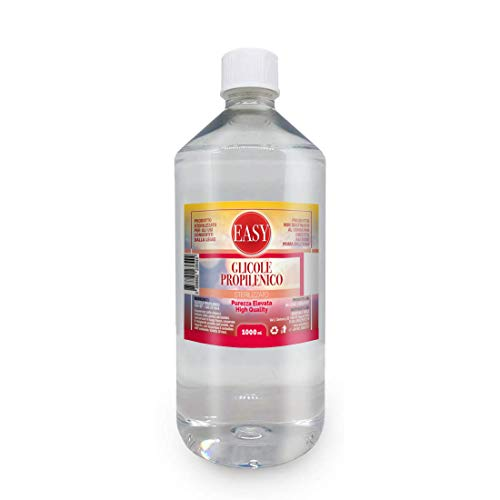 Easy – Propylenglykol 1 Liter rein (99,7 %) – PG, geruchs- und geschmacksneutral – Reinheit mit pharmazeutischer Qualität USP/EP