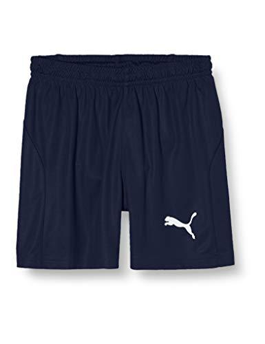 PUMA Liga Shorts Core with Brief Jr, Pantaloncini Unisex Bambini, Blu (Peacoat White), 164