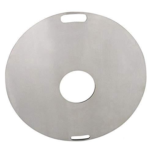 31NrySfqEhL. SL500  - Kette´s Grillzubehör Fireplate/Grillplatte/BBQ-Platte/für Kugelgrills oder Feuertonnen (Feuertonnen)