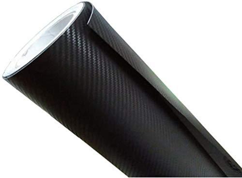 Smilemall 4D リアルカーボンシート 曲面も楽々 マットブラック 152cm × 30cm