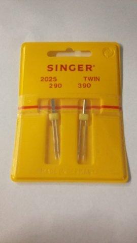 Singer Twin naaimachine naalden, pakket van twee. Maten: 2,0 (2mm) + 3,0 (3mm) in maat 90 - KOOP 2, GET 3e GRATIS!