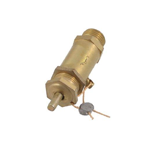 Metaal goudkleurig 13 mm buitendraad Air Compressor veiligheidsventiel