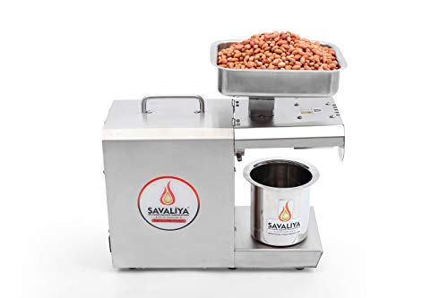 Savaliya Industries Manual 400W-Hexa Edible Oil Maker Machine-Silver