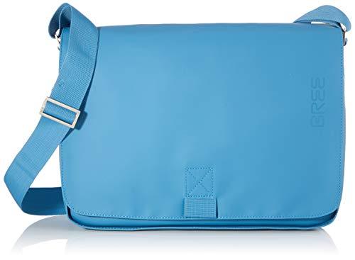 BREE Unisex-Erwachsene PNCH 62 Shoulder Bag Umhängetasche, Blau (Provincial Blue), 8x24x34 cm