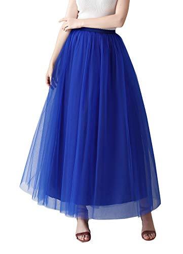 Aivtalk Falda larga para mujer, estilo retro, talle alto, con muchas capas, tutú, tutú, enagua, enagua para ballet, enagua, enagua, en muchos colores
