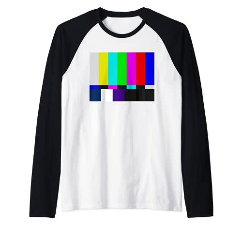 TV-Farbbalken Vintage Retro-Testmuster Bunter Regenbogen Raglan