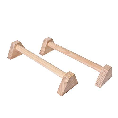 Seasaleshop push-up houder fitnesshouder, vierhoekige stretchstandaard van houtskool enkele dubbele stangen Calisthenics handstand gepersonaliseerde stangen houten push-up dubbele stang