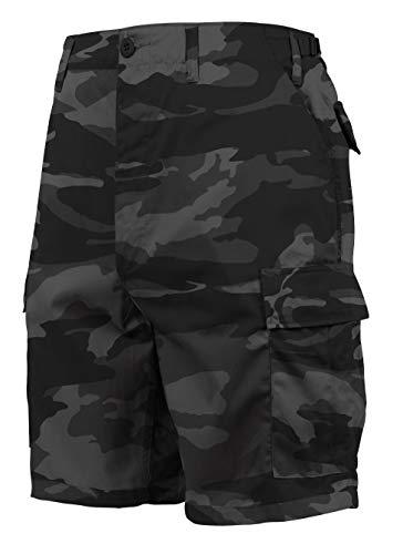 Rothco Tactical BDU (Battle Dress Uniform) Military Cargo Shorts, Black Camo, 2XL