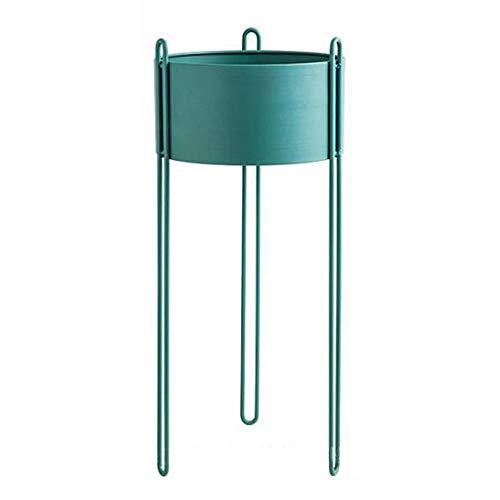 Usine en métal Stand de fleurs Rack Nordic Moderne Simple Maison Salon Balcon Atterrissage Extérieur Présentoir Bonsaï Étagère-green-small