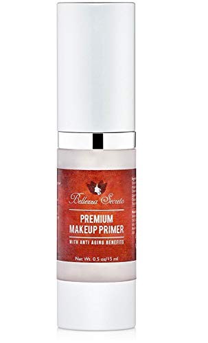 Premium Foundation Makeup Primer- anti aging fine lines wrinkles & pore minimizer primer - Enriched with Vitamin A C & E for flawless skin- Waterproof makeup base - Made in The USA