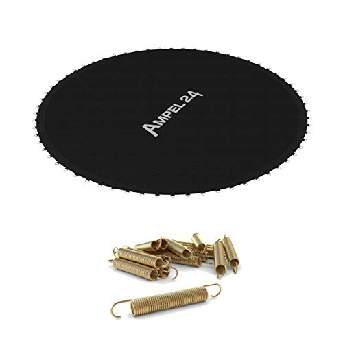 Ampel 24, Tapis de Saut de Rechange pour Trampoline au diamètre de 3,66m avec 12 Ressorts Inclus | 72 Oeillets | Couture Decuple | résistante | Charge Max 160kg