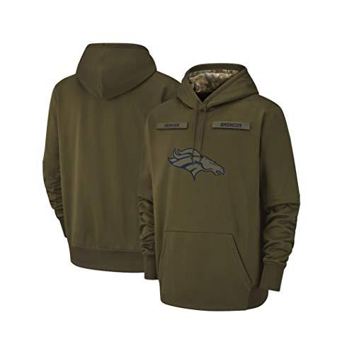 Wo nice Männer Kapuzenpullover - NFL Denver Broncos Team Uniform, Rugby Kapu Pulloverhoodies Langarm-Sweatshirt,M(165~170CM)