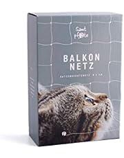 Samtpfote® Red de protección para gatos para balcón y ventana, calidad prémium, extragrande, 8 x 3 m, resistente a mordeduras y resistente