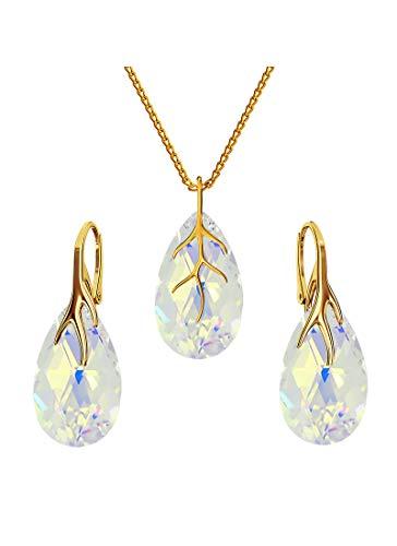 * Beforya Paris* * * * * * * * * * * * * * * * * Crystal AB* * * – Gioielli con cristalli Swarovski Elements – Orecchini e collana con confezione regalo BAP39