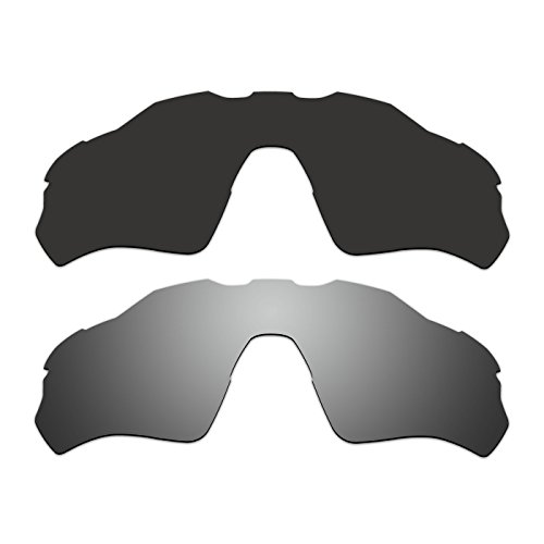 ACOMPATIBLE 2 Pair Replacement Polarized Vented Lenses for Oakley Radar EV XS Path (Youth Fit) Sunglasses OJ9001 Pack P5