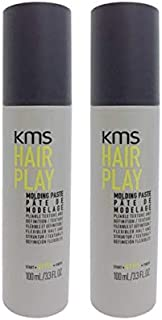 KMS Hair Play Molding Paste, 3.4 oz, 2 Pack