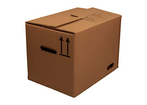 Umzugskartons 2 wellig Außenmaß 510 x 350 x 340 mm bis 50 kg belastbar Profiqualität 2.40 BC 30 Stück