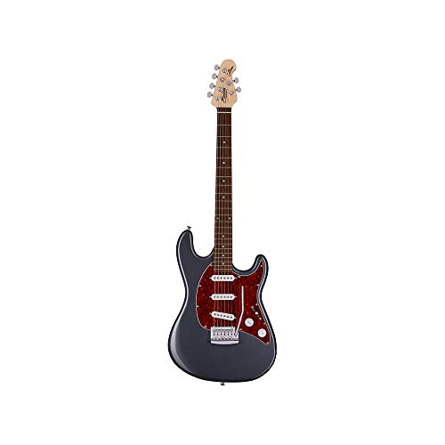 Sterling By MusicMan 6 String Solid-Body Electric Guitar, Right, Charcoal Frost (CT30SSS-CFR-R1)