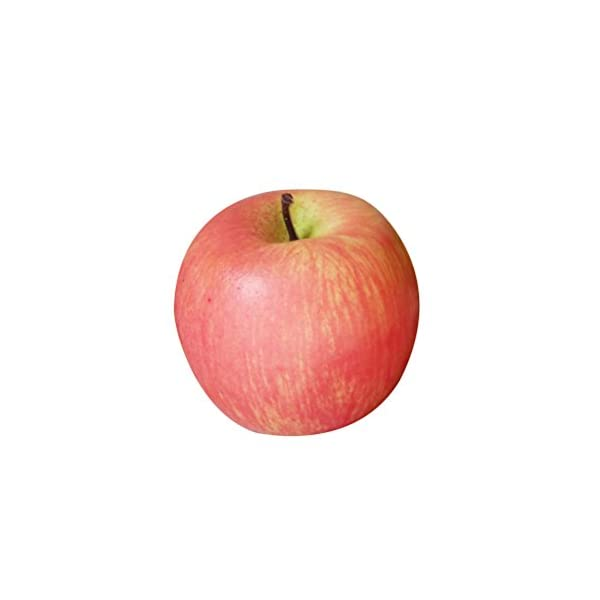 OULII Apples Fake Fruit Artificial Apples Photo Props Display Prop Foam Home House Kitchen Cabinet Decoration (Pink)