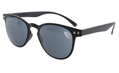 Eyekepper Gafas de sol de lecutura ronda completa Cobertura ultrafino marco Flexible +0.5