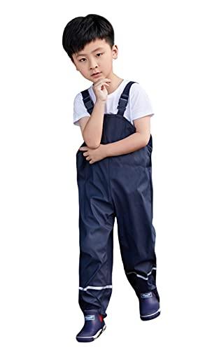 Idgreatim Salopette da Pioggia Unisex per Bambini, Antivento e Impermeabili, Traspiranti, Pantaloni da Trekking, per Ragazze e Ragazzi