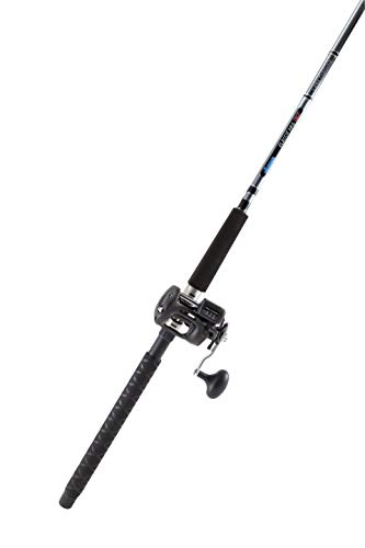 OKUMA Classic Pro Salmon Trolling Combo with Classic Pro Rod and Magda 30 Reel, CPDR-862M-30DX, Charcoal/Gold, 40 Size