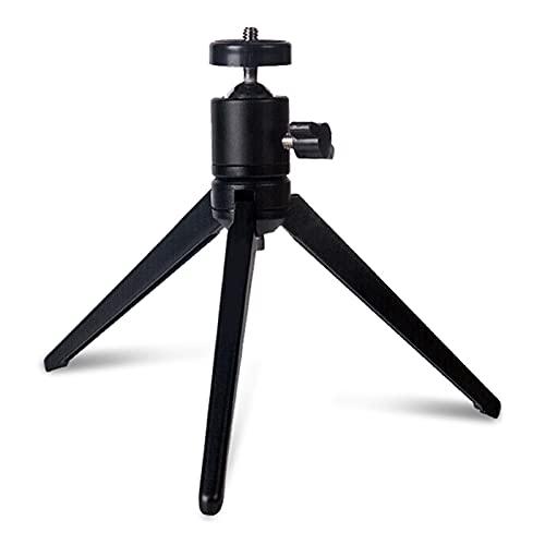 jinrun Soporte Proyector Soporte de Montaje del proyector Mini trípode Soporte de proyector con 360 Grados Montaje con Cabezas giratorias con Bola de Metal para cámara Negra Atriles para proyectores