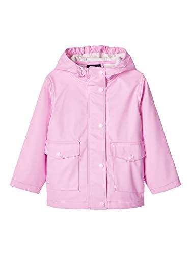 NAME IT Nmnmil Rain Jacket1 Camp Abrigo para Lluvia, Pastel