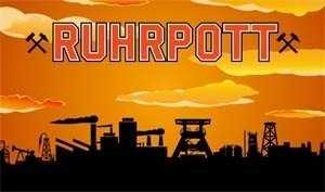 Ruhrpott braun Fahne Flagge Grösse 1,50 x 0,90m Motiv 2013