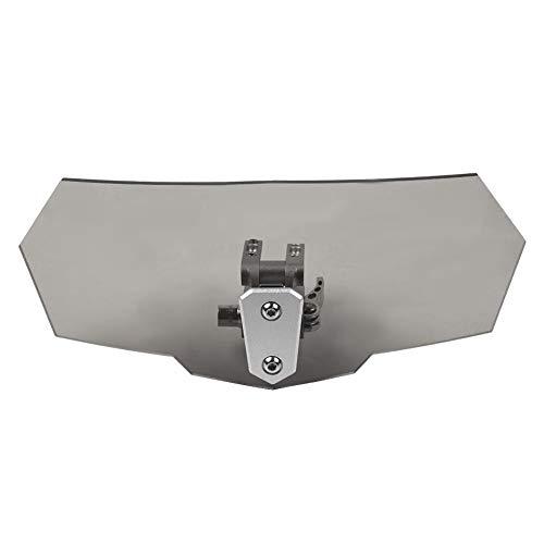 KSTE Su regulación de caudal Universal del Parabrisas del Parabrisas de la Motocicleta Deflector de Viento (Negro)