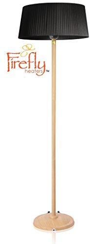 Primrose 2.100 Watt Firefly™ Infrarot-Heizstrahler (Halogen) Terrassenheizung, freistehend, 3 Leistungsstufen, Buchenoptik