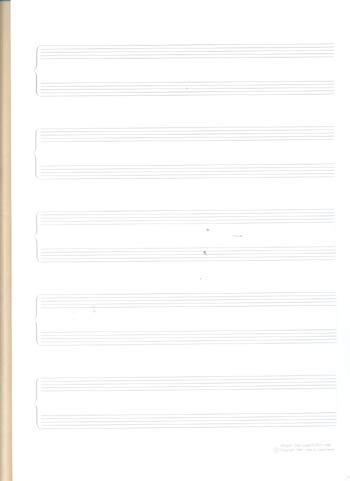 Lote de 5 libretas grapadas folio vertical especial para piano 5 grupos...