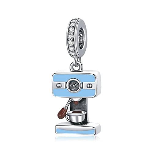 Mijn bedels Sterling Silber Charm-Anhänger Kaffeemaschine
