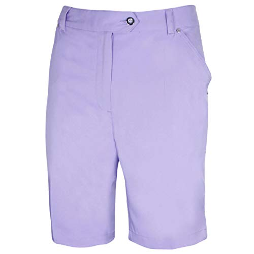 Island Green Golf IGLSHO1681SS Ladies Comfort Fit Stretch Golf Sports Bermuda Shorts, Frosted Lavender, Size 12