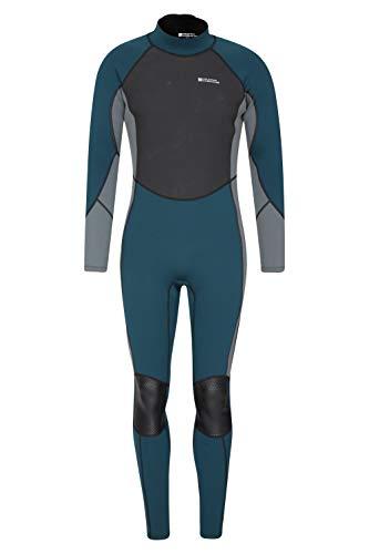 Mountain Warehouse Traje de Neopreno para Hombre - Ajuste Entallado, Traje de Neopreno con Costuras Planas, Cierre Ajustable en el Cuello - para Hacer Surf, bucear Azul petróleo Medium/Large