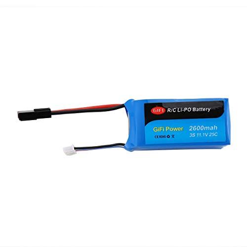 Batería de gran capacidad 11.1V 2600mAh Batería de Drone Lipo de repuesto actualizada para PARROT AR DRONE 1.0 y 2.0 (Azul) ESjasnyfall