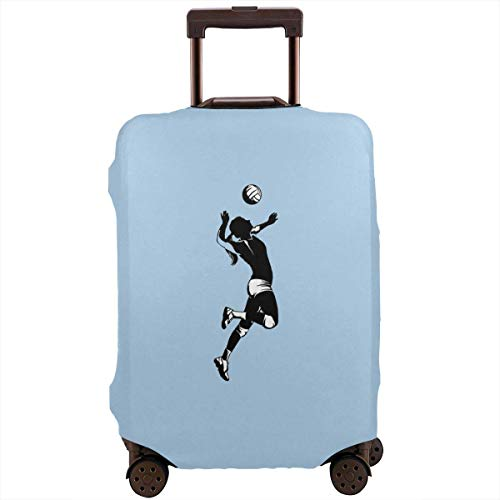 Volleyball Player Travel Suitcase Cover Protector Bagage Beschermende Cover Wasbare Bedrukte Rits Bagage Koffer Cover